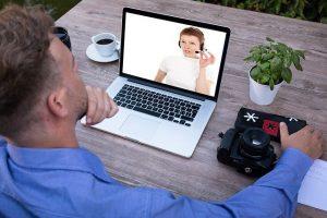 Erste Videokonferenz