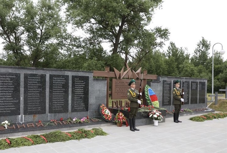 Memorialkomplex Peski – Einweihung