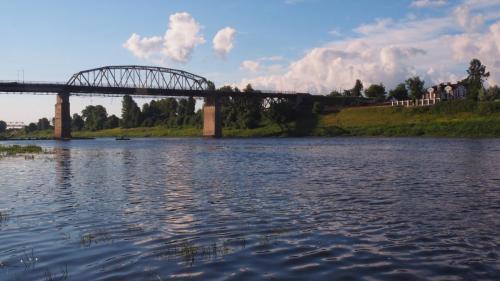 Brücke über die Dwina
